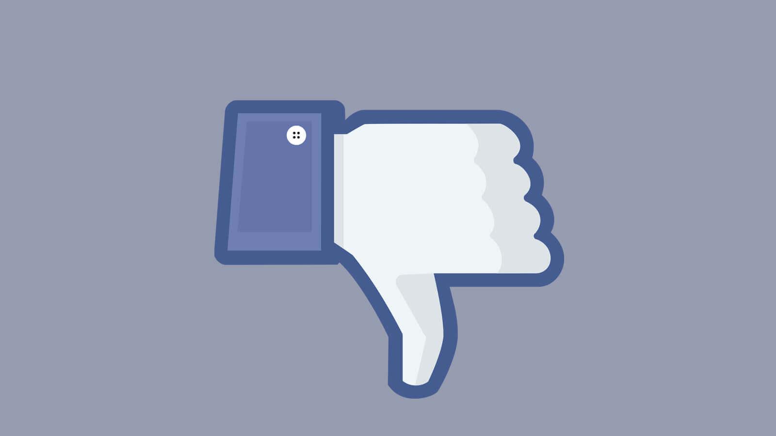 Facebook reinicia testes com o botão 'não curtir'