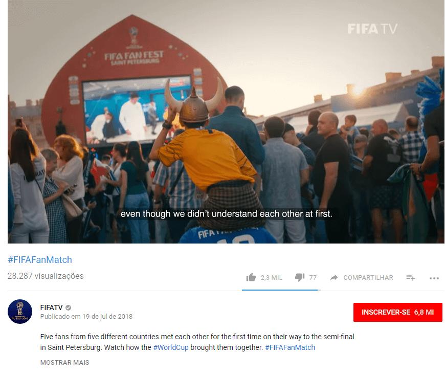 Hashtag clicável no vídeo do Youtube